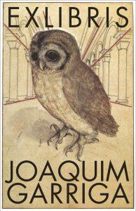 Ex-libris del Fons Joan Garriga